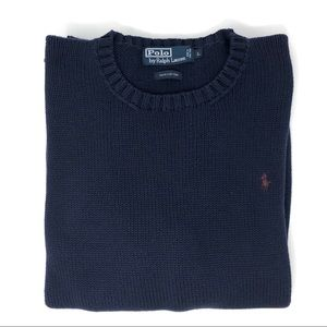 Polo By Ralph Lauren Navy Crewneck Sweater Size L